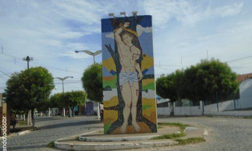 Apuiarés - Mural em homenagem a São Sebastião