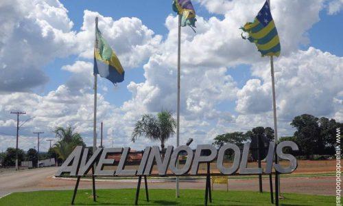 Avelinópolis - Letreiro na entrada da cidade