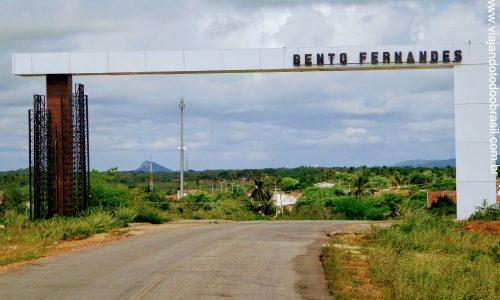 Bento Fernandes - Pórtico na entrada da cidade