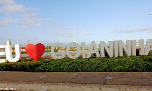 Goianinha - Letreiro na entrada da cidade