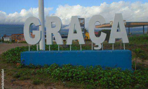 Graça - Letreiro na entrada da cidade