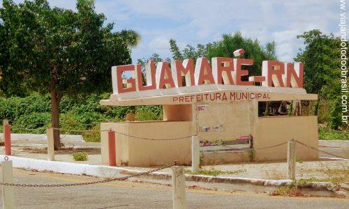 Guamaré - Letreiro na entrada da cidade
