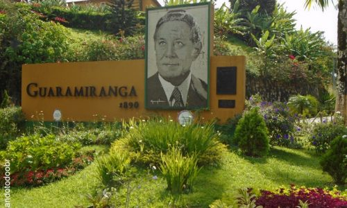 Guaramiranga - Letreiro na entrada da cidade