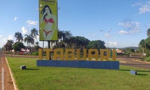 Itaguari - Letreiro na entrada da cidade