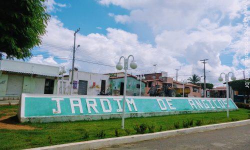 Jardim de Angicos - Letreiro na Praça da Matriz