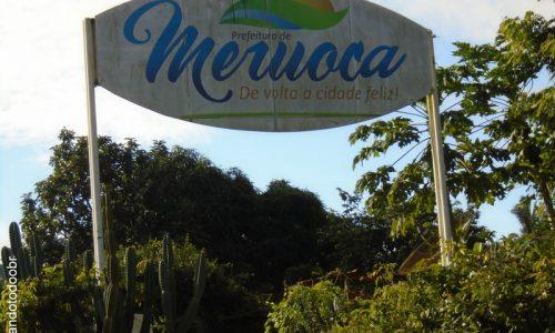 Meruoca - Letreiro na entrada da cidade