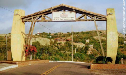 Monte das Gameleiras - Pórtico na entrada da cidade