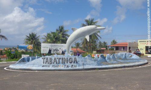 Nísia Floresta - Letreiro na entrada de Tabatinga