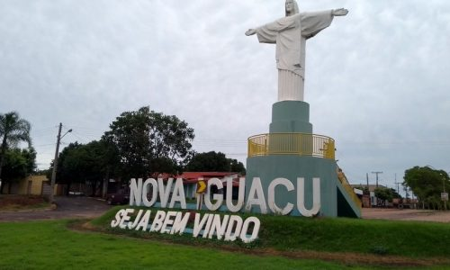 Nova Iguaçu de Goiás - Letreiro na entrada da cidade