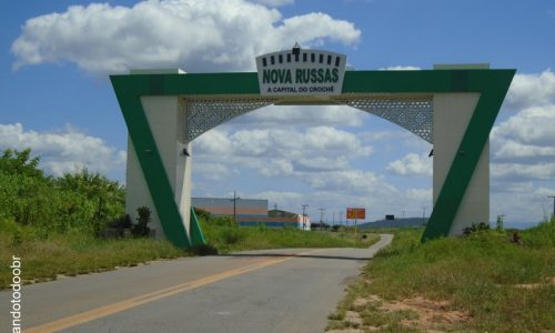 Nova Russas - Portal na entrada da cidade