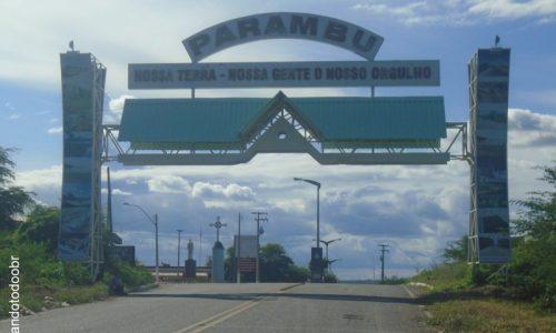 Parambu - Pórtico na entrada da cidade