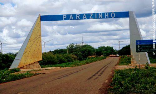 Parazinho - Pórtico na entrada da cidade