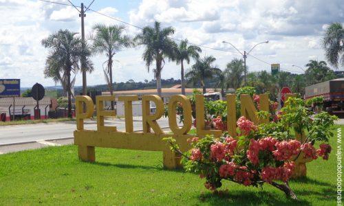 Petrolina de Goiás - Letreiro na entrada da cidade