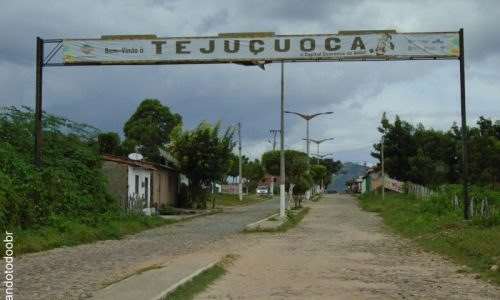 Tejuçuoca - Letreiro na entrada da cidade