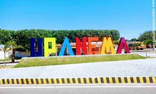 Upanema - Letreiro na entrada da cidade