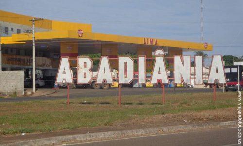 Abadiânia - Letreiro na entrada da cidade
