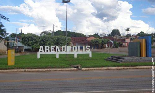 Arenópolis - Letreiro na entrada da cidade