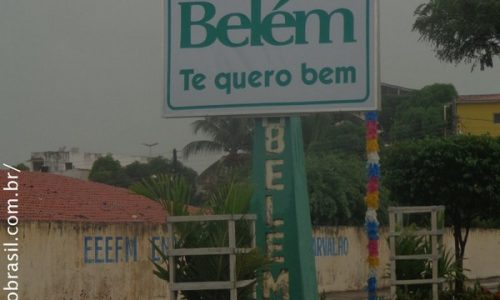 Belém - Letreiro na entrada da cidade