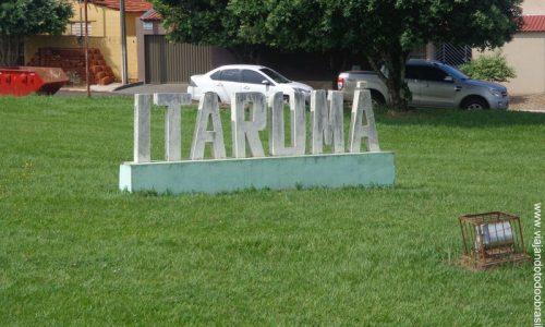 Itarumã - Letreiro na entrada da cidade