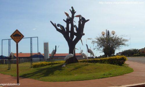 Laguna Carapã - Aves na entrada da cidade