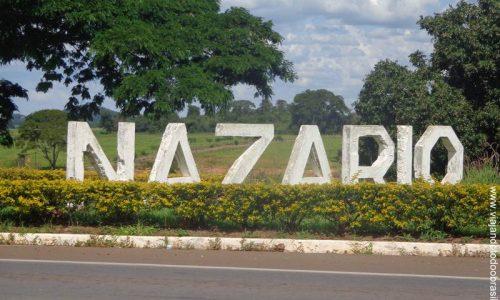 Nazário - Letreiro na entrada da cidade