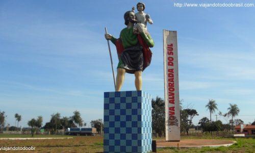 Nova Alvorada do Sul - Imagem em homenagem a São Cristóvão