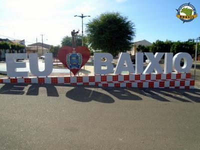 Baixio - Letreiro na Praça da Fé
