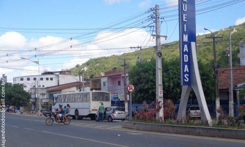 Queimadas - Letreiro no centro na cidade