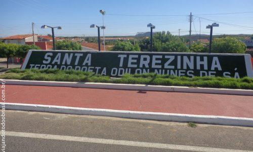Santa Teresinha - Letreiro na entrada da cidade
