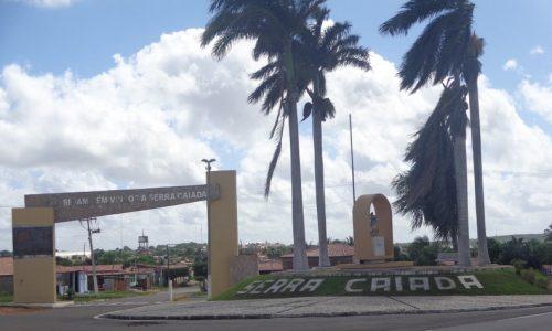 Serra Caiada - Letreiro na entrada da cidade