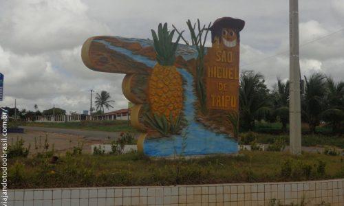 São Miguel de Taipu - Letreiro na entrada da cidade