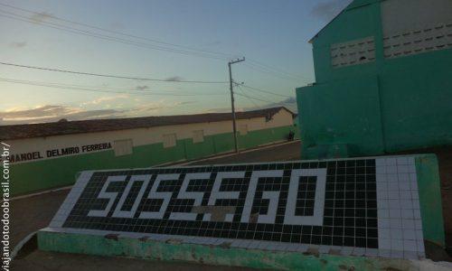 Sossêgo - Letreiro na entrada da cidade
