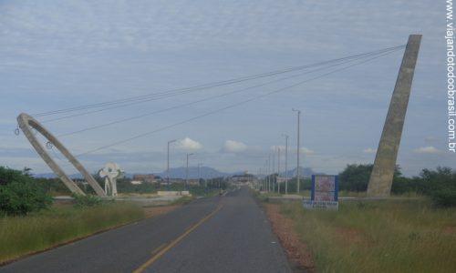Timbaúba dos Batistas - Pórtico na entrada da cidade