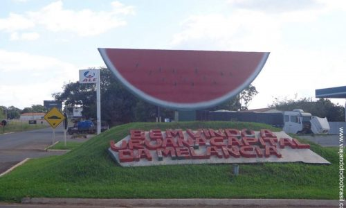Uruana - Letreiro na entrada da cidade